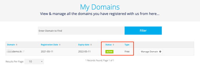 My Domains
