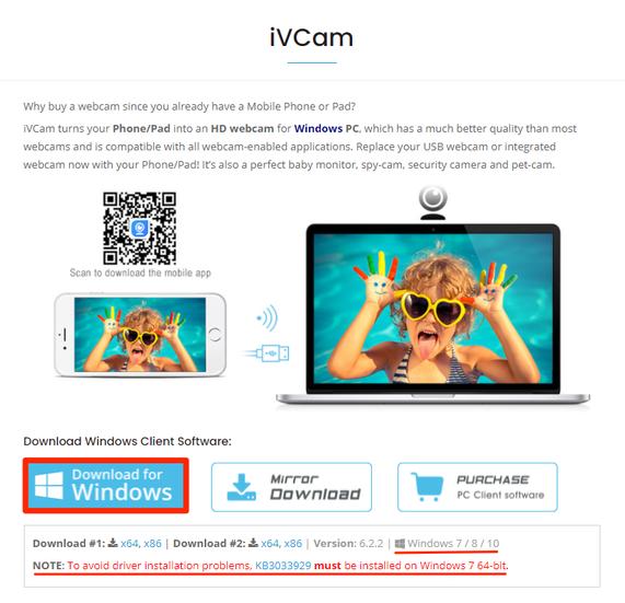 iVCam Windows Driver